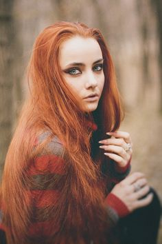 long ginger hair and nails