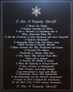 I Am a Deputy Sheriff at PDC-NCCF