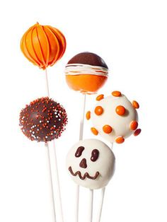 fall / Halloween cake pops