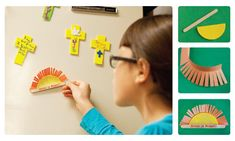 Sunrise Magnets  Kids will make fun magnets as a reminder that Jesus rose, just as the sun does each day. Then they can share the good news with church visitors.  http://childrensministry.com/articles/easter-giveaways?p=2