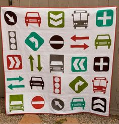 """Beep Beep"" quilt pattern by Vanessa Goertzen at Lella Boutique"