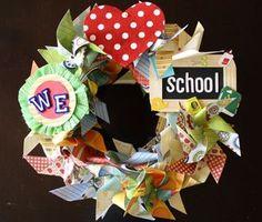 back to school wreath