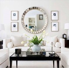 mirror and art placement