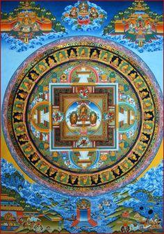 Buddhist thangka depicting the life of Buddha  #Tibetan # Thangka