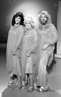 From left: Bruce Jenner, Bob Hope and footballer Merlin Olson in Hope's 1981 special, spoofing The Mandrell Sisters (calling themselves The Mandrake Sisters).  Long before The Kardashians and Little House on the Prairie!