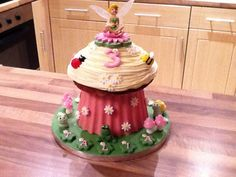 Tinkerbell fairy garden cake