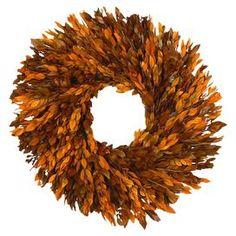 Preserved Autumn Myrtle Wreath
