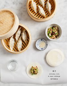 Shiitake and napa cabbage gyoza