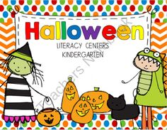 Halloween Literacy Centers from Kindergarten Rocks 2013 on TeachersNotebook.com -  (109 pages)  - Halloween Literacy Centers are great hands on centers that incorporates what is going on in a child�s environment during the month of October.