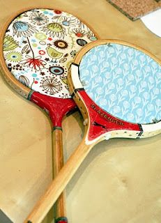 Upcycled Tennis Racket cork Board DIY Tutorial