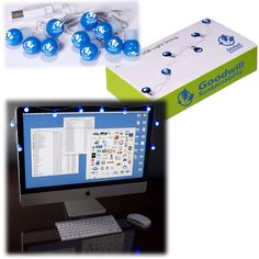 PL-4273 USB String Lights. ABS plastic covered LED lights with cord and custom printed paperboard box. Features 10 lights in one color with 1-color imprint. Plug into the USB port on your computer to light. Price includes custom gift box utilizing your own images, including full-color photography. No set-up charges.