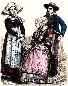 Plate #94d - Late Nineteenth Century - French Folk Dress. Brittany