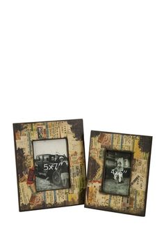 Photo frames with old ticket stubs... DIY modpodge project?