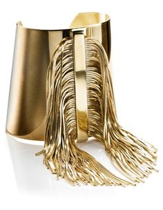 Yellow Gold Fringe Cuff by :CA