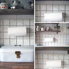 Easy peasy DIY paper towel holder or upcycled clothes hanger * Schnelles Küchenrollenhalter DIY oder ein Zweckentfremdeter Kleiderbügel