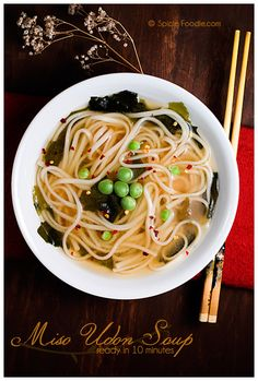 Easy Miso Udon Soup PLUS 33 Pasta and Noodle Recipes for #MeatlessMondays