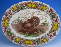 Barker Brothers 20 Inch Turkey Platter @ EnglishTransferware, featured in Romantic Homes magazine