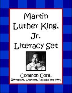 The Martin Luther King, Jr. Literacy Set by The Teacher Next Door is a 34 page set filled with Common Core reading and writing activities that are perfect for 4th and 5th graders. There are worksheets that target Cause and Effect, Reading Informational Text with Charts and Graphs, Point of View Using Informational Text, and two Character Traits Activities. There are also paragraph writing pages, 2 different poetry pages, and a Martin Luther King, Jr. Legacy Craftivity, foldables and more! $