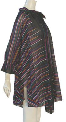 Vintage 80s Sheer Poly Cape