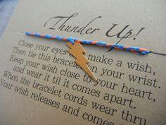Oklahoma City Thunder Inspired Wish Bracelet, via Etsy.