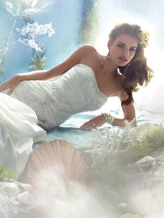Disney Fairy Tale Weddings by #AlfredAngelo Style 201 #Ariel
