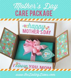 mothers day, care packag, gift packaging, mother day gifts, free printabl, gift idea