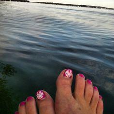 Monogrammed toes. TSM.
