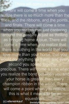 This is what it means to be an equestrian...