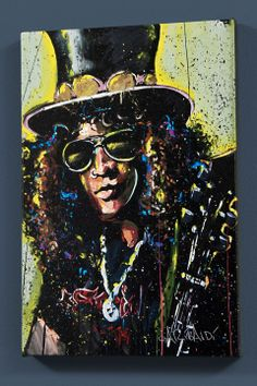David Garibaldi Slash music, garibaldi slash, 24x36, art prints, garibaldi art, print poster, david garibaldi, canvases, slash art