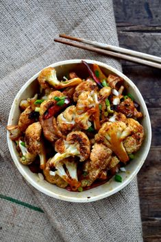 Roasted Cauliflower Stir-fry
