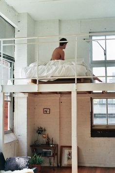 #loft bed in the city