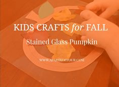 How to make a stained glass pumpkin with your kiddos!