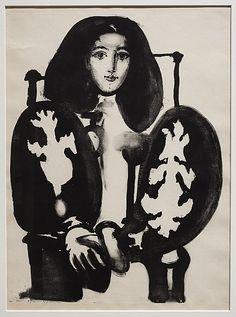 private collection, art, françois gilot, inspir, cloak, armchairs, le manteau, print, pablo picasso