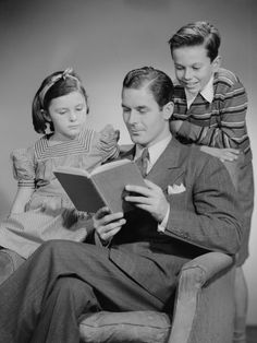FATHER reading and looking swell!
