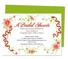 Juliet Bridal Shower Invitation Template easy to download and edit in Word, OpenOffice, Publisher, Apple iWork Pages.