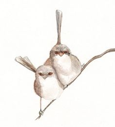 """KellyBermudez - Kelly found inspiration for this watercolor of wrens in an Ecclesiastes quote, """"Two people are better off than one, for they can help each other succeed."""""""