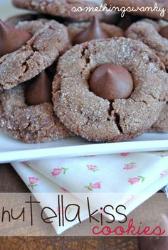 Nutella Kiss Cookies. Chocolate ideas curated by SavingStar. Save money on your groceries with eCoupons at SavingStar.com