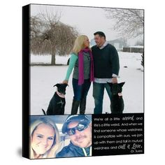 your photos and words on canvas - makes the perfect Christmas gift.
