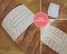 DIY - Artisan Loaf Wrappers (2 Styles and Colorways) - Free PDF Printable