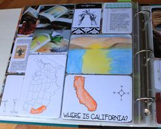 lapbook and lessons for Grandfather's Journey--about both California and Japan
