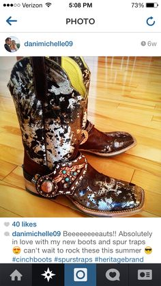 so obsessed with these cinch boots, and of course heritage brand spur straps :)