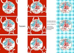 Toppers, Tent Cards, & Favor Boxes: Modern Cowgirl Party {INSTANT DOWNLOAD} Dunham Design Company