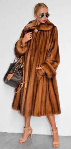 Luxury mink coat