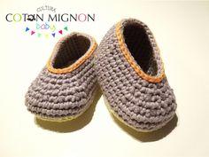Zapatitos básicos en ganchillo para bebé - Cultura COTON MIGNON Tutorial ✿⊱╮Teresa Restegui http://www.pinterest.com/teretegui/✿⊱╮