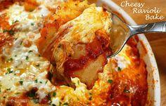 Cheesy Ravioli Bake
