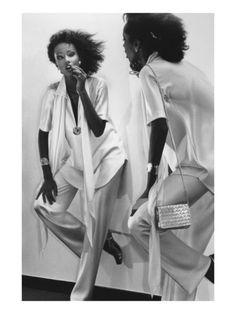 Vogue - January 1977 by Chris Von Wangenheim - Iman in Halston