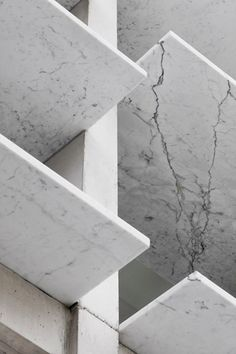 Marble louvres for sun shading. Balmain House Extension by Carter Williamson Architects.