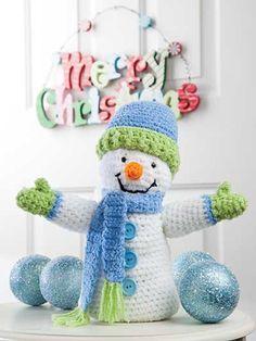 Crochet - Living Room Patterns - Decor - Snowman