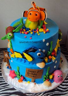 Finding Nemo cake by WhatEveR iT CakeS! ™ ©, via Flickr