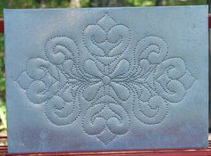Pie Tin Punch Patterns | Primitive Punched Tin Pie Safe Panel Wall Hanging - Rustic Tin Punch